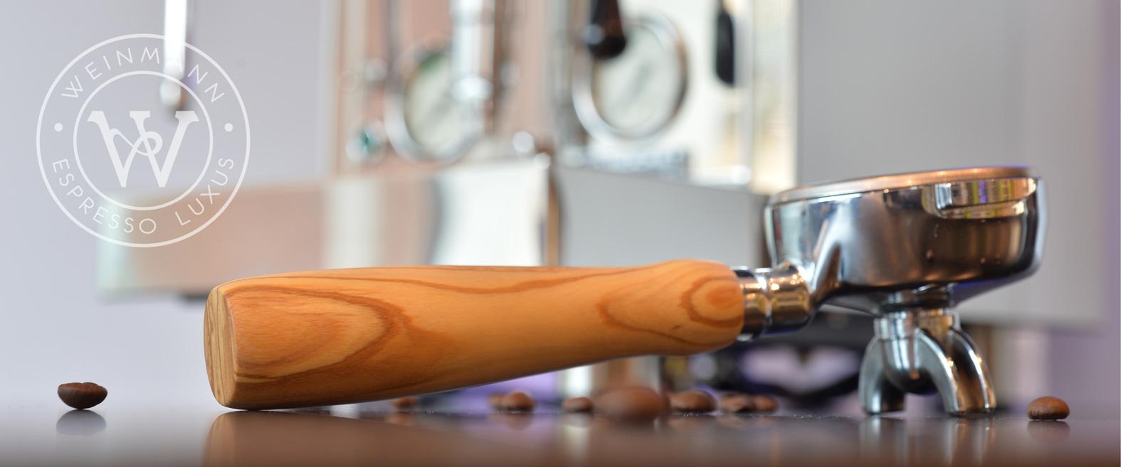 Weinmann Handgefertiger Premium Siebträger aus Oliven-Edelholz